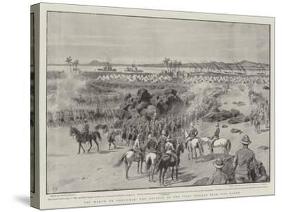 The March on Omdurman, the Advance of the First Brigade from Wad Hamed-Frank Dadd-Stretched Canvas Print