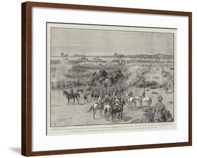 The March on Omdurman, the Advance of the First Brigade from Wad Hamed-Frank Dadd-Framed Giclee Print