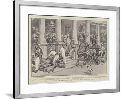 The Advance on Khartoum, a Soudan Mail Day in Cairo-Frank Dadd-Framed Giclee Print