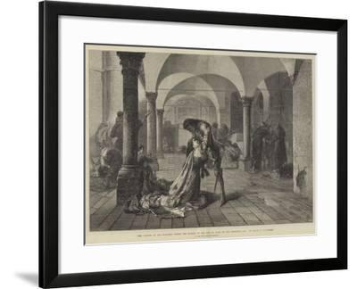 The Convent of San Francesco During the Sacking of the City of Assisi by the Perugians, 1442-Frank W. W. Topham-Framed Giclee Print