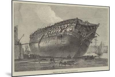 Breaking-Up HMS Queen at Rotherhithe-Frank Watkins-Mounted Giclee Print