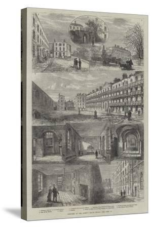 Sketches of the Queen's Bench Prison-Frank Watkins-Stretched Canvas Print