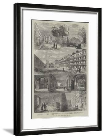Sketches of the Queen's Bench Prison-Frank Watkins-Framed Giclee Print