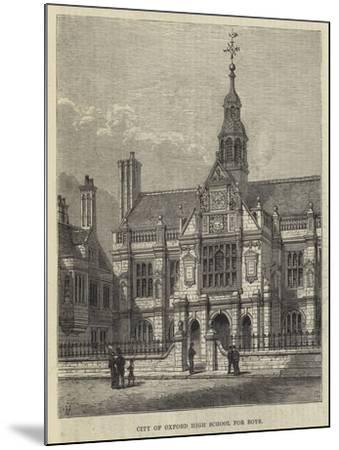 City of Oxford High School for Boys-Frank Watkins-Mounted Giclee Print
