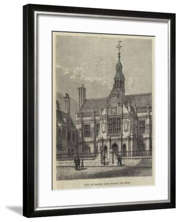 City of Oxford High School for Boys-Frank Watkins-Framed Giclee Print