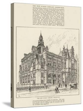 The New Public Library, Edinburgh-Frank Watkins-Stretched Canvas Print