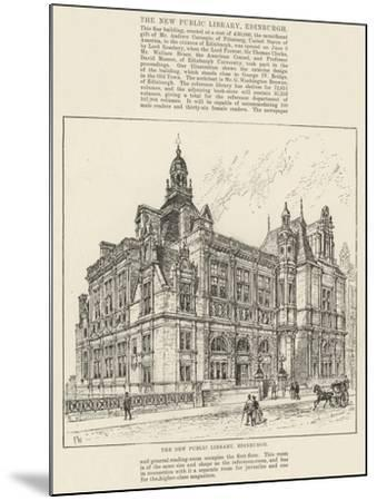 The New Public Library, Edinburgh-Frank Watkins-Mounted Giclee Print
