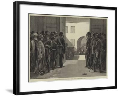 The Revolution in Egypt, Reception of Tewfik Pasha at the Citadel of Cairo-Frank Dadd-Framed Giclee Print