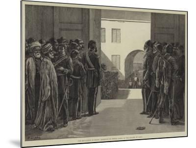 The Revolution in Egypt, Reception of Tewfik Pasha at the Citadel of Cairo-Frank Dadd-Mounted Giclee Print