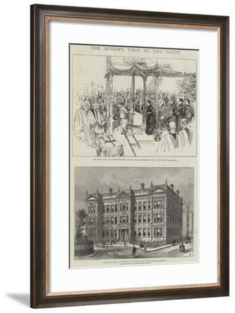 The Queen's Visit to the Savoy-Frank Watkins-Framed Giclee Print
