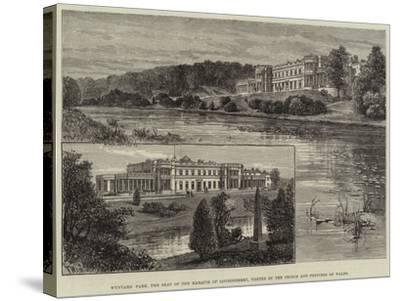 Wynyard Park, the Seat of the Marquis of Londonderry, Visited by the Prince and Princess of Wales-Frank Watkins-Stretched Canvas Print
