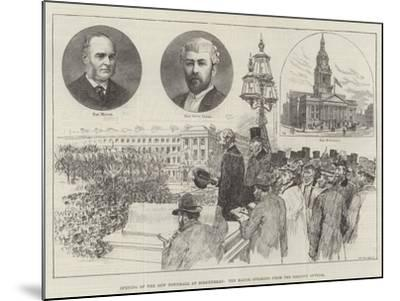 Opening of the New Townhall at Birkenhead, the Mayor Speaking from the Balcony Outside-Frank Watkins-Mounted Giclee Print