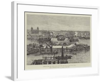 Works of the New Tower Bridge, Seen from the Top of a Shaft 100Ft High-Frank Watkins-Framed Giclee Print