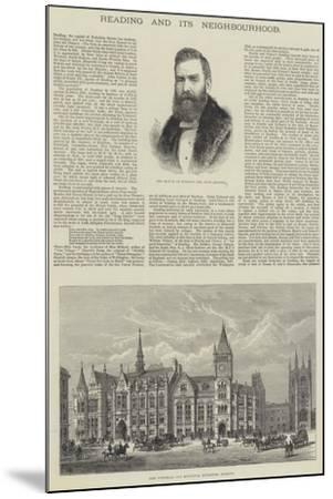 Reading and its Neighbourhood-Frank Watkins-Mounted Giclee Print