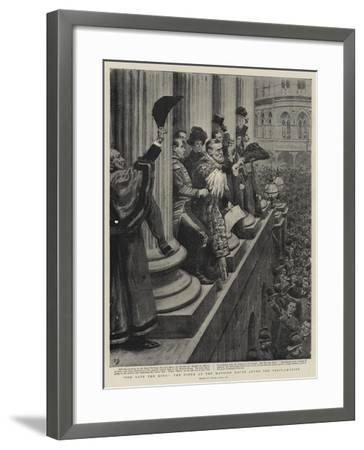 God Save the King, the Scene at the Mansion House after the Proclamation-Frank Dadd-Framed Giclee Print