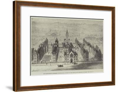The Marylebone Infirmary, Notting-Hill, Opened by the Prince and Princess of Wales-Frank Watkins-Framed Giclee Print
