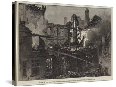 Ruins of the Scottish Corporation Hall, Crane-Court, Fleet-Street, after the Fire-Frank Watkins-Stretched Canvas Print