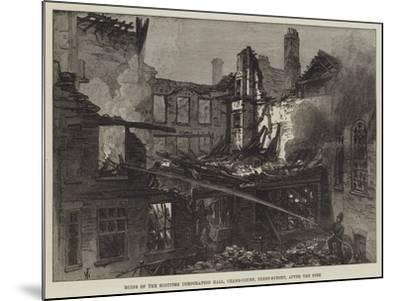 Ruins of the Scottish Corporation Hall, Crane-Court, Fleet-Street, after the Fire-Frank Watkins-Mounted Giclee Print
