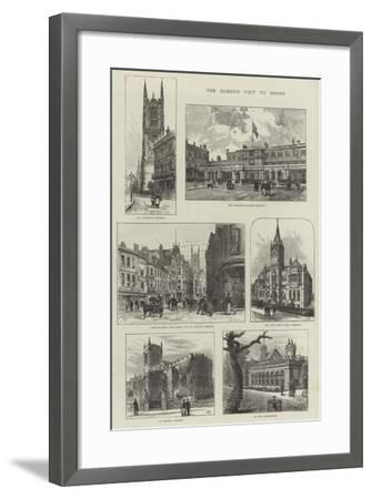The Queen's Visit to Derby-Frank Watkins-Framed Giclee Print
