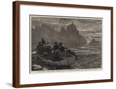 Sketches from the Land's End, Ii, Seine Fishing Off the Logan Rock-Frank Dadd-Framed Giclee Print
