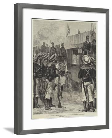 The Grand Review of British Troops at Cairo, Ladies of the Harem Going to the Review-Frank Dadd-Framed Giclee Print