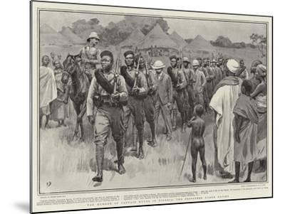 The Murder of Captain Keyes in Nigeria, the Prisoners under Escort-Frank Dadd-Mounted Giclee Print