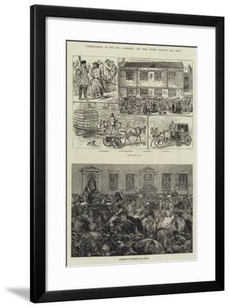 Commencement of the Hull, Barnsley, and West Riding Railway and Dock-Frank Dadd-Framed Giclee Print