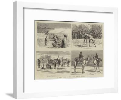 At the Camp of Exercise, Delhi, India-Frank Dadd-Framed Giclee Print