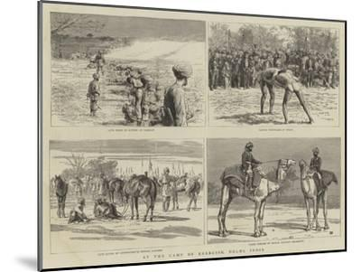 At the Camp of Exercise, Delhi, India-Frank Dadd-Mounted Giclee Print