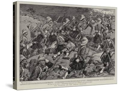 The Fighting on the Indian Frontier-Frank Dadd-Stretched Canvas Print