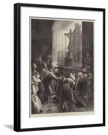 Before Leaving for the War, a Scene in Brittany-Frederick Barnard-Framed Giclee Print