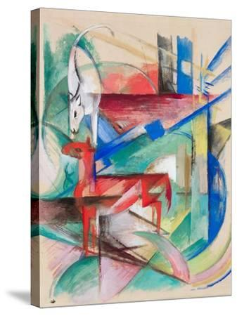 Landscape with Animals, 1913-Franz Marc-Stretched Canvas Print