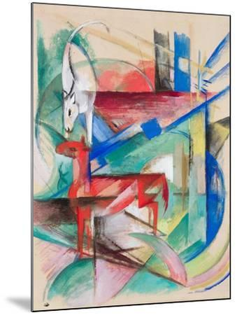 Landscape with Animals, 1913-Franz Marc-Mounted Giclee Print