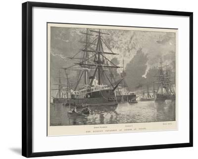 The Russian Squadron at Anchor at Toulon-Fred T. Jane-Framed Giclee Print