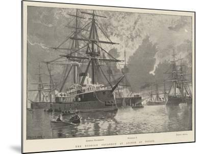 The Russian Squadron at Anchor at Toulon-Fred T. Jane-Mounted Giclee Print