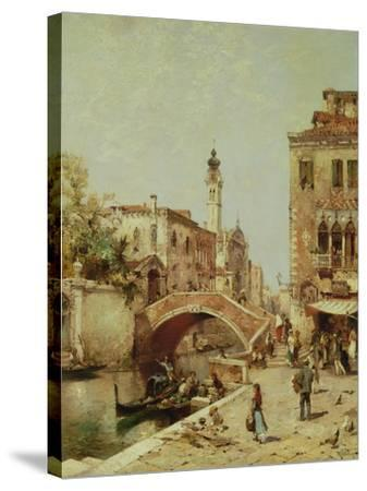 Santa Catarina Canal, Venice-Franz Richard Unterberger-Stretched Canvas Print