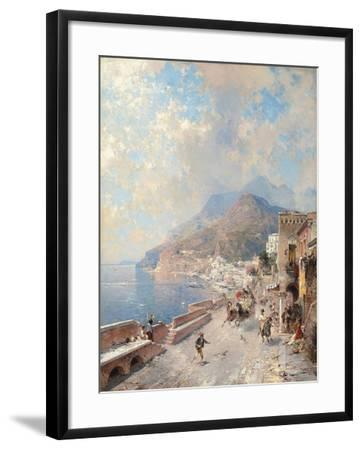 Gulf of Salerno, Amalfi-Franz Richard Unterberger-Framed Giclee Print