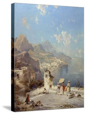 Overlooking Amalfi-Franz Richard Unterberger-Stretched Canvas Print