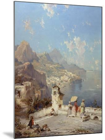 Overlooking Amalfi-Franz Richard Unterberger-Mounted Giclee Print