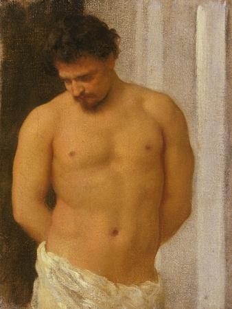 Study of a Male Figure-Frederic Leighton-Framed Giclee Print