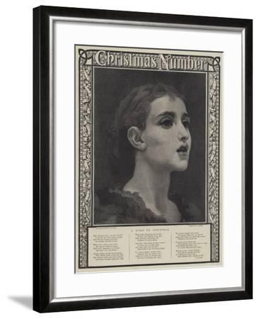 A Hymn to Christmas-Frederic Leighton-Framed Giclee Print