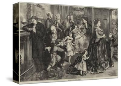 The Half Hour before Dinner-Frederick Barnard-Stretched Canvas Print