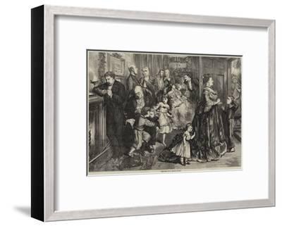 The Half Hour before Dinner-Frederick Barnard-Framed Giclee Print