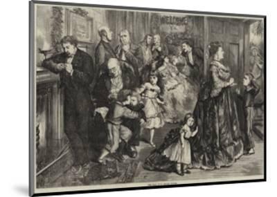 The Half Hour before Dinner-Frederick Barnard-Mounted Giclee Print