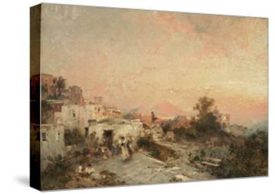 La Tarantella, Posilipo, Naples, C.1895-Franz Richard Unterberger-Stretched Canvas Print