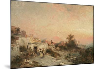 La Tarantella, Posilipo, Naples, C.1895-Franz Richard Unterberger-Mounted Giclee Print