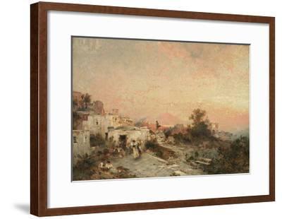 La Tarantella, Posilipo, Naples, C.1895-Franz Richard Unterberger-Framed Giclee Print