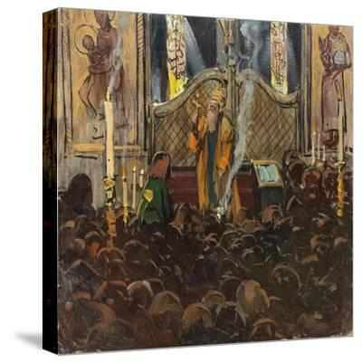 Orthodox Mass-Franz Roubaud-Stretched Canvas Print