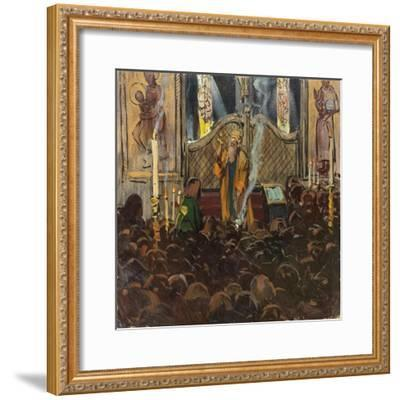 Orthodox Mass-Franz Roubaud-Framed Giclee Print