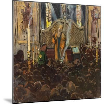 Orthodox Mass-Franz Roubaud-Mounted Giclee Print